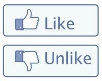 Os polegares gostam acima do ícone Fotos de Stock