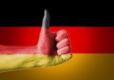 Os polegares levantam Alemanha Fotografia de Stock Royalty Free