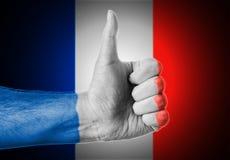 Os polegares levantam França Foto de Stock Royalty Free
