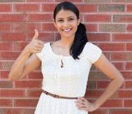 Os polegares levantam a mulher Foto de Stock Royalty Free