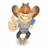 Os polegares levantam o cowboy (a ilustração) Imagens de Stock Royalty Free