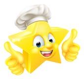 Os polegares levantam o cozinheiro chefe da estrela Fotos de Stock Royalty Free