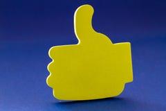 Os polegares levantam o gesto Imagens de Stock Royalty Free