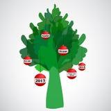 Os polegares levantam o Natal & o ano novo Fotografia de Stock Royalty Free