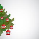 Os polegares levantam o Natal & o ano novo Fotos de Stock Royalty Free