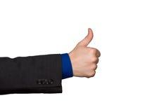 Os polegares levantam o sinal da mão Foto de Stock Royalty Free