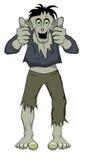 Os polegares levantam o zombi Fotos de Stock Royalty Free