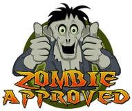 Os polegares levantam o zombi aprovado Fotos de Stock