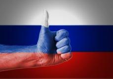 Os polegares levantam Rússia Foto de Stock