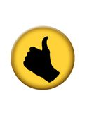 Os polegares levantam a tecla do ícone Fotos de Stock