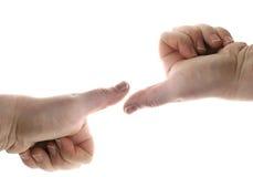 Os polegares negociam acima imagens de stock