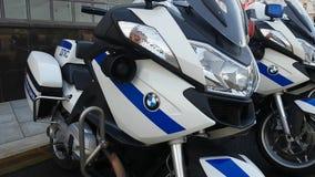 Os polis da estrada do russo comandam a equipe na rua Imagem de Stock