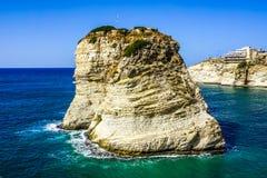 Os pombos de Beirute Raouche balançam 07 imagens de stock royalty free