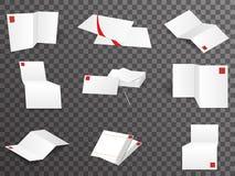 Os pontos de vista diferentes ajustados do molde do Livro Branco zombam acima da ilustração do vetor do projeto ilustração do vetor