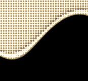 Os pontos do ouro acenam no preto Imagem de Stock Royalty Free