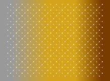 Os pontos e as linhas amarelos e as cores cor-de-rosa texture o teste padrão no cinza do inclinação e no fundo do ouro Vector a i ilustração stock