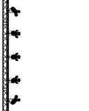 Os pontos mostram em silhueta à esquerda Fotografia de Stock Royalty Free
