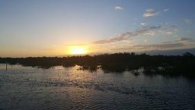 Os pores do sol abaixam chaves de Florida foto de stock