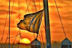 Os portos de chamada para piratas ofereceram o abrigo seguro por um breve período de tempo imagens de stock