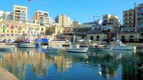 Os portos do St julianos, Malta video estoque