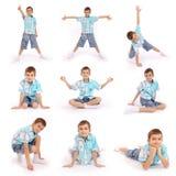 Os poses do menino Imagens de Stock