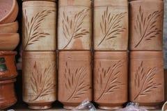 Os potenciômetros de argila Fotografia de Stock Royalty Free