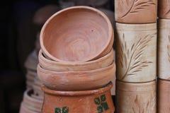 Os potenciômetros de argila Foto de Stock Royalty Free