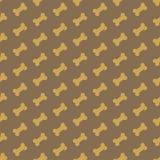 Os pour la texture sans couture de chien Photos stock