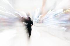 Os povos abstratos do borrão no shopping luxuoso bonito centram Foto de Stock