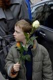 Os povos acorrentam para judeus em Dinamarca Foto de Stock