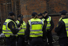 Os povos acorrentam para judeus em Dinamarca Imagens de Stock