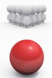 Os povos confrontam com o perigo como o bowling Imagem de Stock Royalty Free