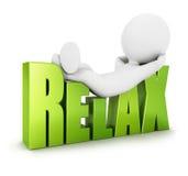 os povos 3d brancos relaxam Imagem de Stock