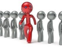 Os povos diferentes equipam a pessoa original vermelha da individualidade do caráter ilustração stock