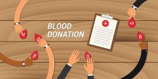 Os povos do conceito da doação de sangue dão o seu a outro Foto de Stock