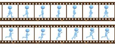 Os povos do símbolo da animação andam funcionamento em frames do cel Imagens de Stock Royalty Free