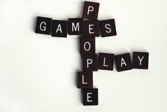 Os povos dos jogos jogam #2 Imagens de Stock