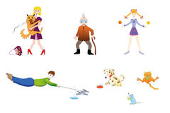 Os povos e os animais home ilustração do vetor