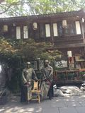 Os povos em JinLi de chengdu que nunca saem fotos de stock royalty free