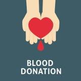 Os povos entregam a doação do amor contra a doação de sangue Imagem de Stock