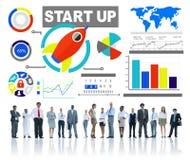 Os povos incorporados do negócio da afiliação étnica começam acima o conceito da inovação Imagem de Stock