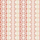 Os povos inspiraram o teste padrão geométrico do bordado ilustração royalty free
