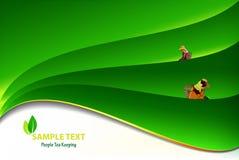 Os povos mantêm as folhas de chá s ilustração royalty free
