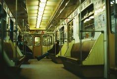 Os povos montam o carro de metro imagens de stock royalty free