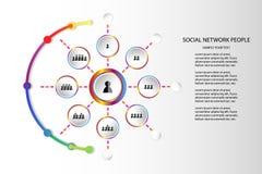 Os povos o mercado do conceito que do ícone da rede comunica a ilustração do vetor da tecnologia no fundo branco com o espaço da  Foto de Stock Royalty Free