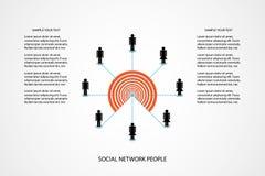 Os povos o mercado do conceito que do ícone da rede comunica a ilustração do vetor da tecnologia no fundo branco com o espaço da  Imagens de Stock