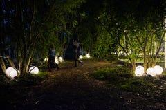 Os povos que relaxam em um special que refrigera a área natural decoraram a sagacidade Fotografia de Stock Royalty Free
