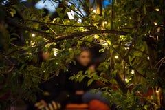 Os povos que relaxam em um special que refrigera a área natural decoraram a sagacidade Foto de Stock