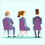 Os povos sentam-se para trás na conferência, concerto Foto de Stock Royalty Free