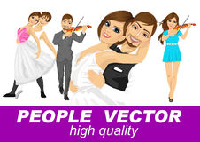 Os povos vector com vários caráteres Foto de Stock